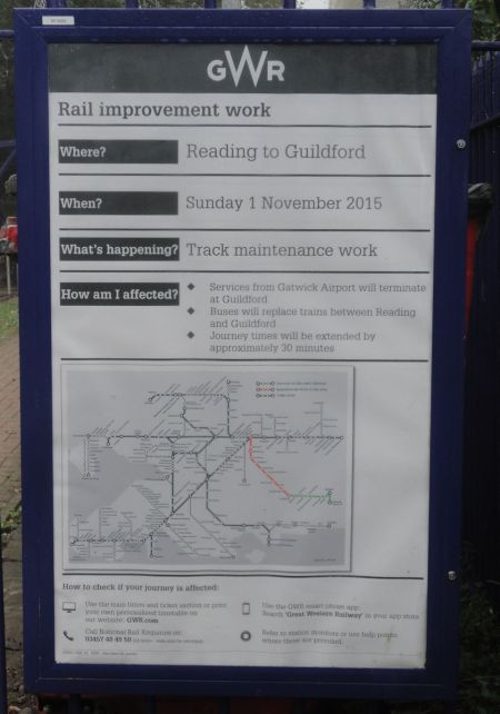 notice of rail works no amended timetable