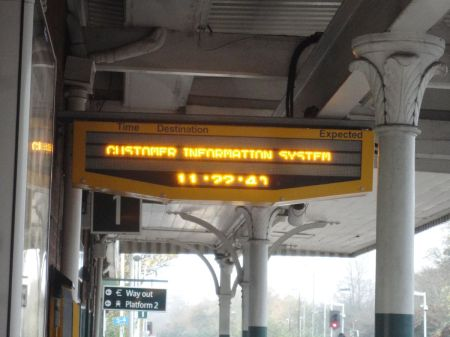 no information on the platform at Reigate