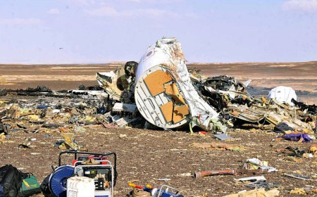 Russia crash site in Sinai