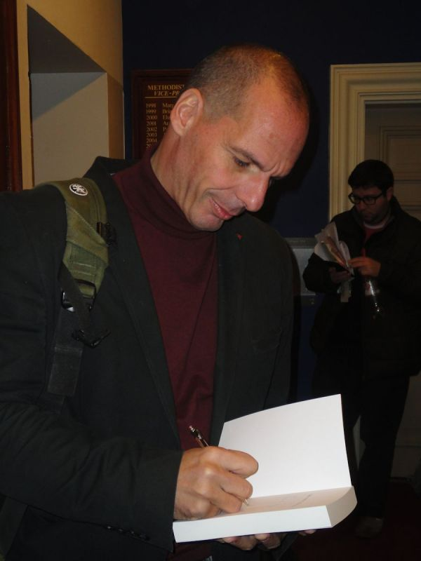 Yanis Varoufakis book signing