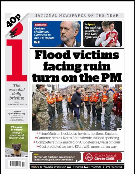 flood victims turn on David Cameron