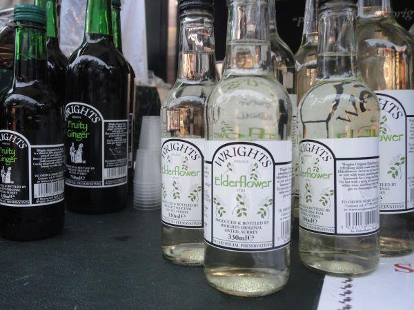 ginger beer and elderflower