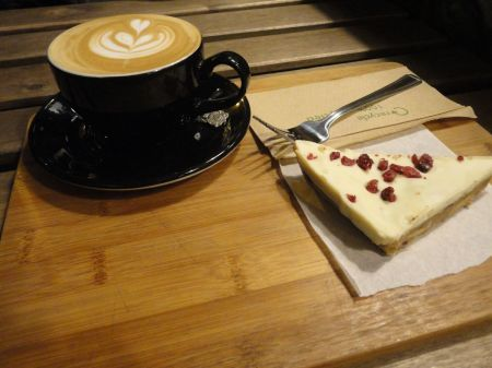 cappuccino and cake