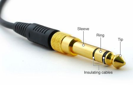 1/4 inch gold-plated stereo headphone jack