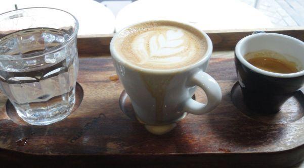 unusual way of serving coffee