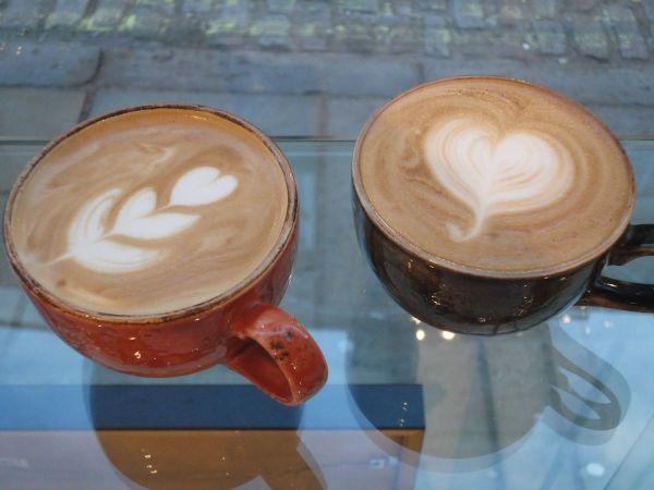 cappuccino at Turn Fit Deli
