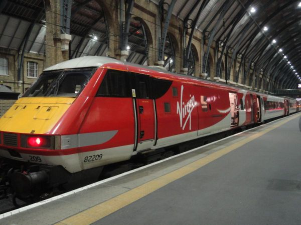 Virgin Train at King's Cross