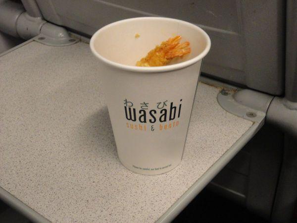 Wasabi tempura prawns