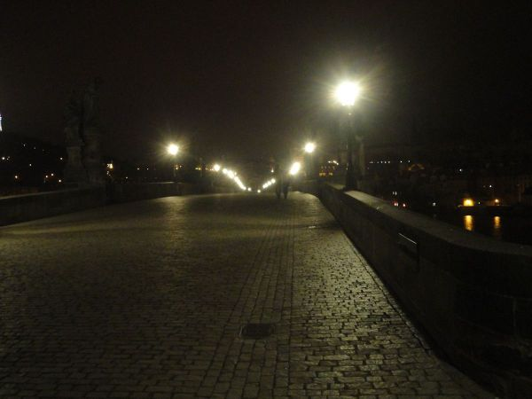 Charles Bridge early hours of the morning