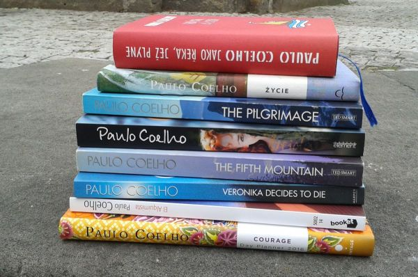 Paulo Coelho books signed in Prague