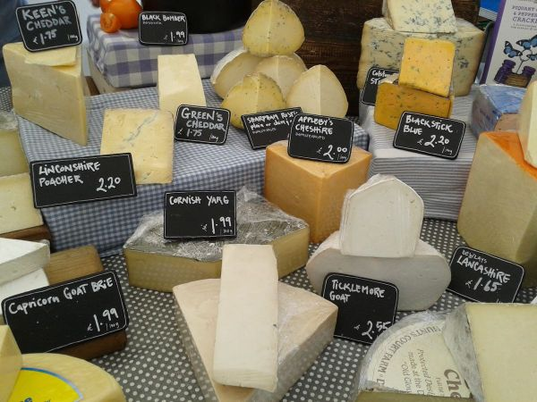 cheese stall Guildford market