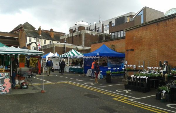 deserted Guildford farmers market