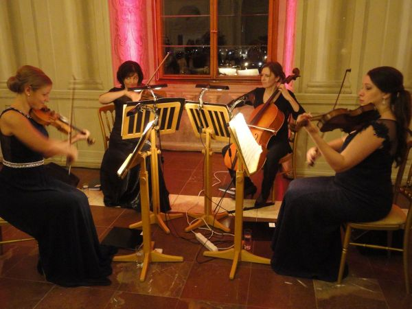 string quartet played whilst we dined