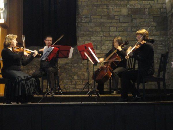 Old Prague Music Ensemble string quartet in St Martin in the Wall