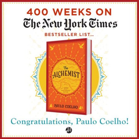 The Alchemist 400 weeks New York Times best-seller list