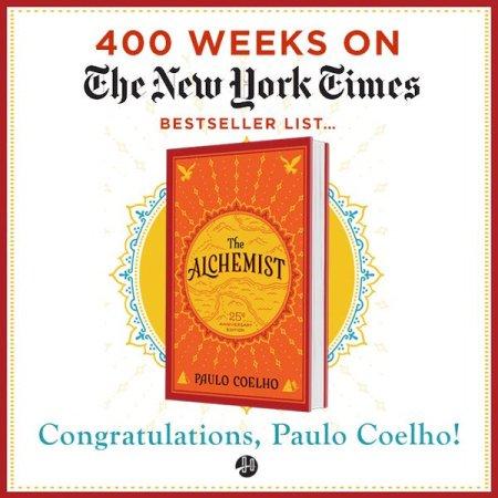 The Alchemist 400 weeks New York Times best-seller list
