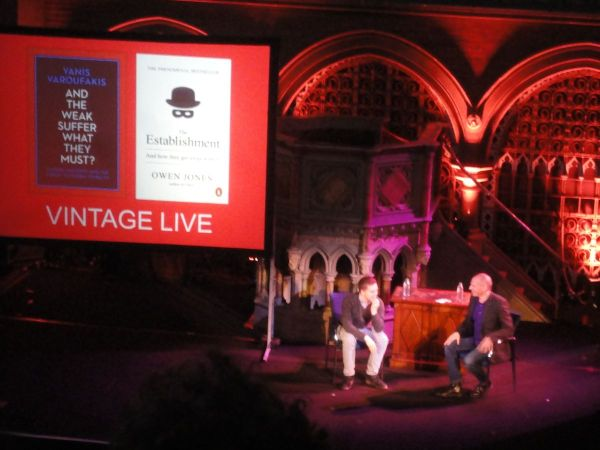 an evening with Yanis Varoufakis at Union Chapel