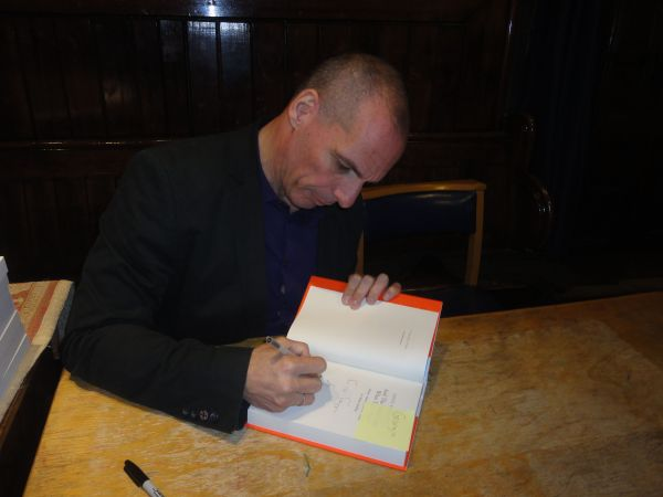 Yanis Varoufakis book signing at Union Chapel