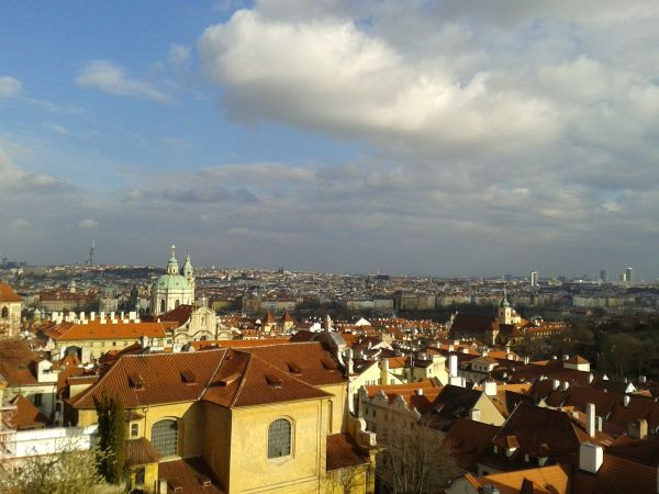 stunning views over Prague