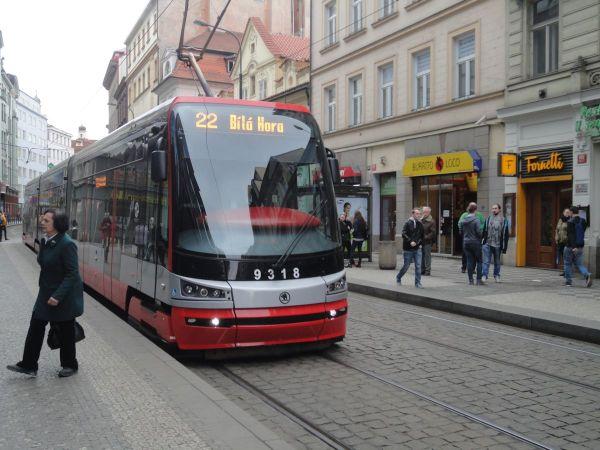 Prague tram 22 00