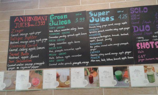 Grasshopper Delicatessen selection of juices
