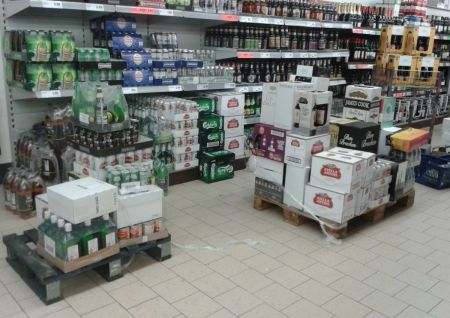 Lidl trip hazard and obstacle course