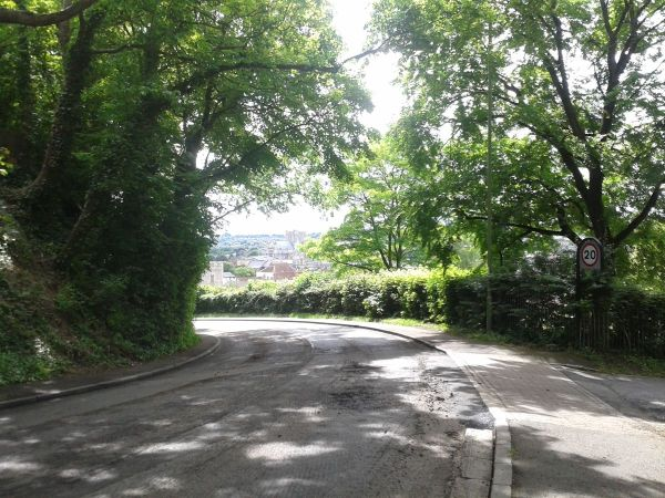 St Catherine's Hill leading down into Winchester