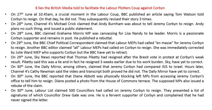 Corbyn media lies