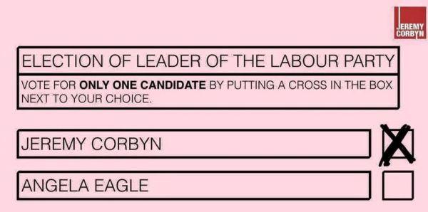 Jeremy Corbyn ballot