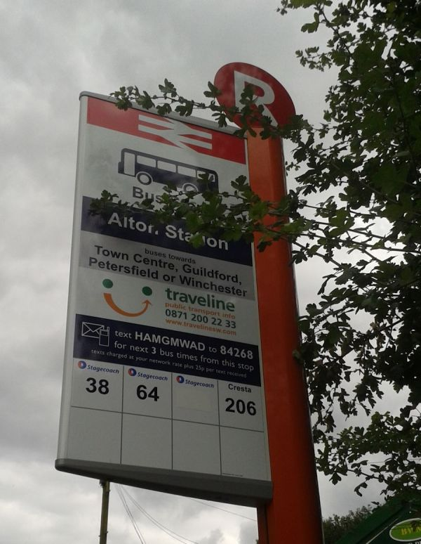 65 bus no longer calls at Alton Station