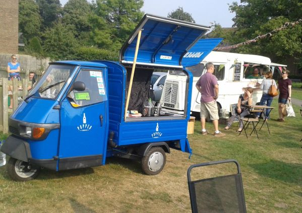 Popped Truck and Vintage Pop up Vintage Tea Van