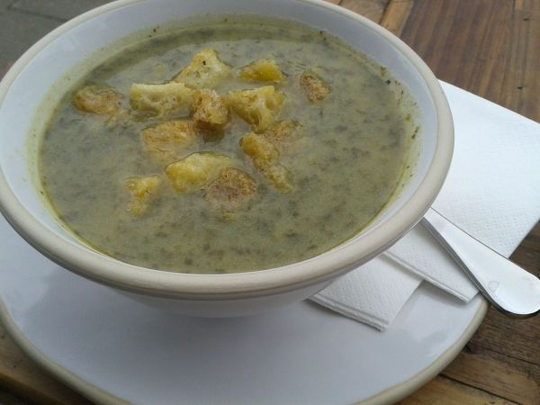 watercress and pea soup at Gail's