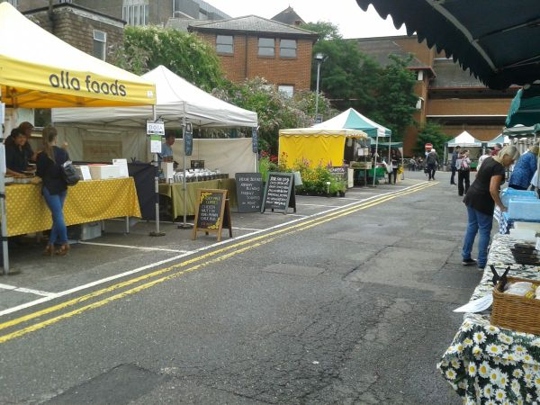 all but desrted Guildford farmers market