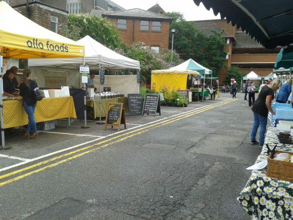 all but desrted Guildford farmers market