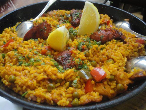 meat paella at La Casita