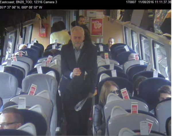 Virgin Train CCTV shows seats either occupied or reserved