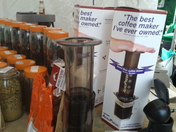 AeroPress on Guildford market