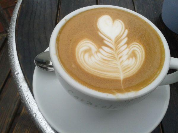 cappuccino at Caracoli Farnham