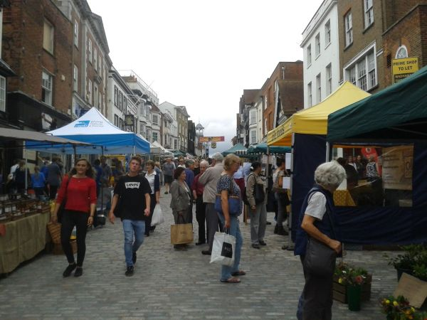 Guildford farmers market back in High Street