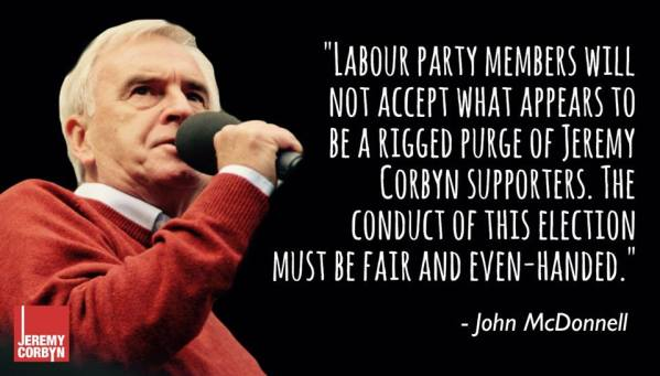 John McDonnell on Labour rigged election