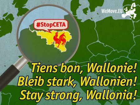 Stop CETA support Wallonia
