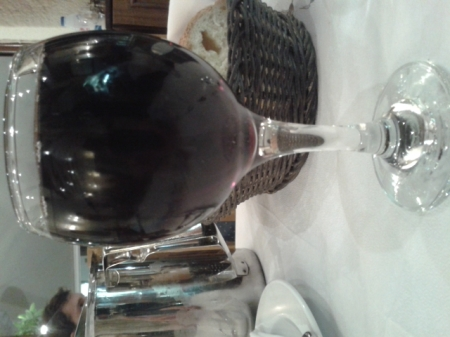 glass of red wine in Plaka Restaurant