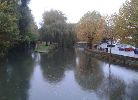 River Wey from Debenham's restaurant
